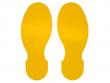 12: Bodenmarkierungs-Fußabdrücke