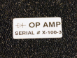 4: weiße Polyester-Etiketten mit einer extrem hohen Haftung (B-489)