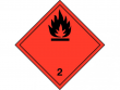 8: Gefahrgutschild Klasse 2.1 - Entzündbare Gase