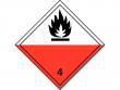 5: Gefahrgutschild Klasse 4.2 - Selbstentzündliche Stoffe