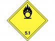 11: Gefahrgutschild Klasse 5.1 - Entzünden (oxidierend) wirkende Stoffe