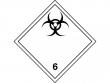 14: Gefahrgutschild Klasse 6.2 - Ansteckungsgefährliche Stoffe