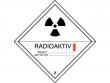 15: Gefahrgutschild Klasse 7A - Radioaktive Stoffe (Kategorie I)