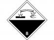 20: Gefahrgutschild Klasse 8 - Ätzende Stoffe