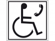 6: Hinweisschild - Telefon für Rollstuhlfahrer