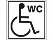 9: Hinweisschild - Toilette für Rollstuhlfahrer