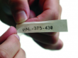 4: Transparentes Etikett für den Laminat-Halter