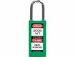 7: Grünes Sicherheitsschloss mit langem Nylongehäuse (834466)