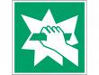 8: Notausstieg (Rettungsschild / Erste-Hilfe-Schild gemäß ISO 7010, ASR A1.3)