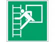 14: Fluchtleiter links (Rettungsschild / Erste-Hilfe-Schild gemäß ISO 7010, ASR A1.3)