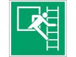 15: Fluchtleiter rechts (Rettungsschild / Erste-Hilfe-Schild gemäß ISO 7010, ASR A1.3)