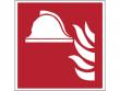 4: Mittel und Geräte zur Brandbekämpfung (Brandschutzschild gemäß DIN EN ISO 7010, ASR A1.3)