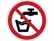 5: Verbotsschild - Kein Trinkwasser (gemäß DIN EN ISO 7010, ASR A1.3)