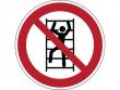 37: Besteigen für Unbefugte verboten - Verbotszeichen