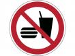 20: Verbotsschild - Essen und Trinken verboten (gemäß DIN EN ISO 7010, ASR A1.3)