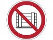 21: Verbotsschild - Abstellen oder Lagern verboten (gemäß DIN EN ISO 7010, ASR A1.3)