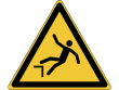 8: Warnschild - Warnung vor Absturzgefahr (gemäß DIN EN ISO 7010, ASR A1.3)