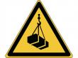 15: Warnschild - Warnung vor schwebender Last (gemäß DIN EN ISO 7010, ASR A1.3)
