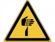 22: Warnschild - Warnung vor spitzem Gegenstand (gemäß DIN EN ISO 7010)