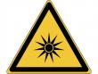 27: Warnschild - Warnung vor optischer Strahlung (gemäß DIN EN ISO 7010, ASR A1.3)
