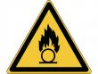 28: Warnschild - Warnung vor brandfördernden Stoffen (gemäß DIN EN ISO 7010, ASR A1.3)